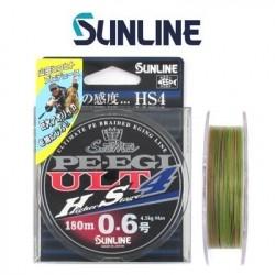 Sunline PE-EGI ULT 4 120 m.  1.0 - 7.7 kg. multi kolor