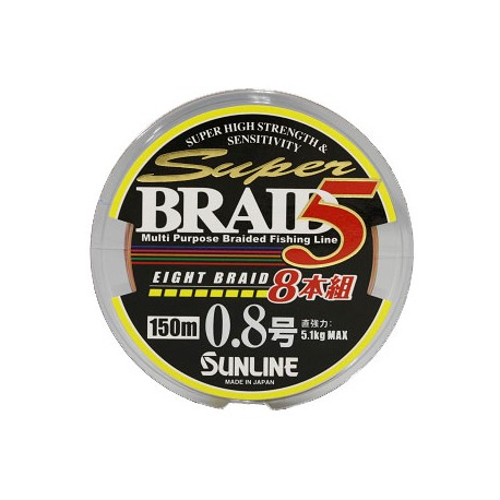Sunline SUPER BRAID 5 8 Braid 150 m   0,8