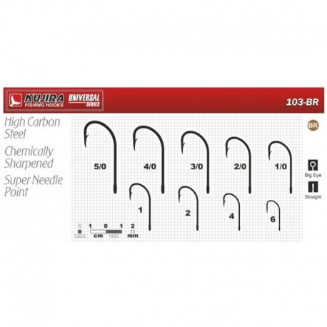 Hooks KUJIRA 103 (Nr. 1/0, BR, multipurpose, pack. 6 items)
