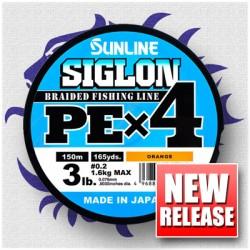 Sunline SIGLON PE x 4 1,5 25 lb 11,0 kg. 150 m. Orange