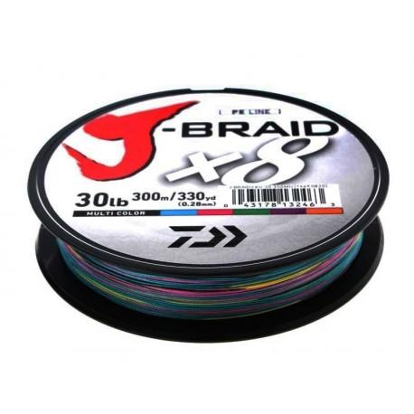 J-Braid X8 0.18mm-150m d. mult color