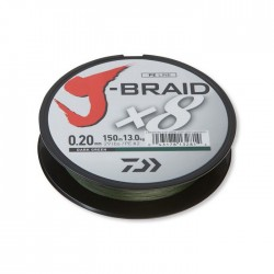 J-Braid X8 0.22mm-150m d. green