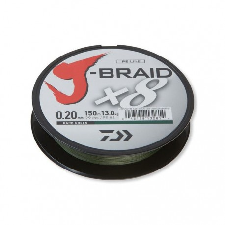 J-Braid X8 0.22mm-150m d. green