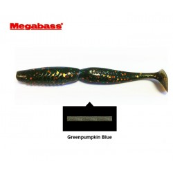 "Megabass Spindle Worm ""4"" (Green Pumpkin Blue)"