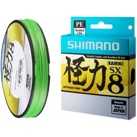 SHIMANO Kairiki PE STEEL Mantis Green 150m 6.0kg 0.10mm