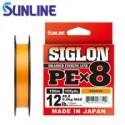 Sunline SIGLON PE x 8 12lb PE 1.2 9.2kg.150 m. Orange
