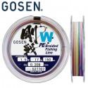 GOSEN W4 PE Braided Fishing Line 150m 1.5 17lb 7.8kg 0.209mm Mult. Color
