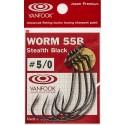 Vanfook Worm -55B Stealth Black ofset 5/0
