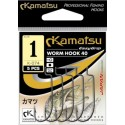 KAMATSU Worm Hook 40 K-074 Size 1 qty 5