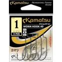 KAMATSU Worm Hook 40 K-074 Size 1/0 qty 5
