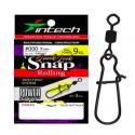 INTECH Quick Lock Snap Rolling Size 3 48kg qty 5 Matt Black