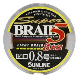 Sunline SUPER BRAID 5 8 Braid 150 m   0,8