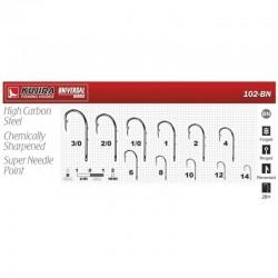 Hooks KUJIRA 102 (Nr. 2/0, BN, multipurpose, pack. 6 items)