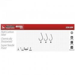 Hooks KUJIRA 106 (Nr. 6, BN, multipurpose, pack. 10 items)